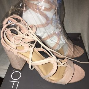 Strappy Suede Tie Up Sandal